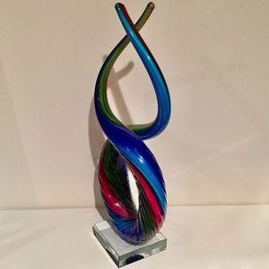 Murano Accents - Murano Glassware Love Knot Art Sculpture